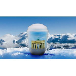 Biodegradable Cremation Ashes Funeral Urn / Casket - BRANDENBURG GATE