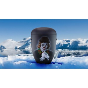 Biodegradable Cremation Ashes Funeral Urn / Casket - SAD CLOWN