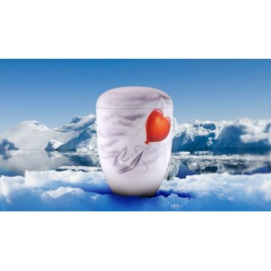 Biodegradable Cremation Ashes Funeral Urn / Casket - ASCENDING BALLOON