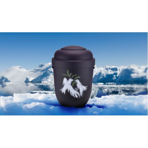 Biodegradable Cremation Ashes Funeral Urn / Casket - DOVES OF PEACE
