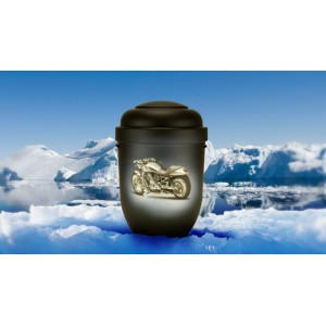 Biodegradable Cremation Ashes Funeral Urn / Casket - HARLEY - DAVIDSON MOTORCYCLE