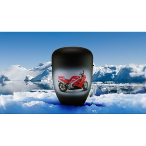 Biodegradable Cremation Ashes Funeral Urn / Casket - HONDA MOTORCYCLE