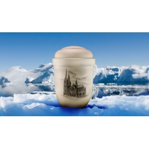 Biodegradable Cremation Ashes Funeral Urn / Casket - CATHEDRAL