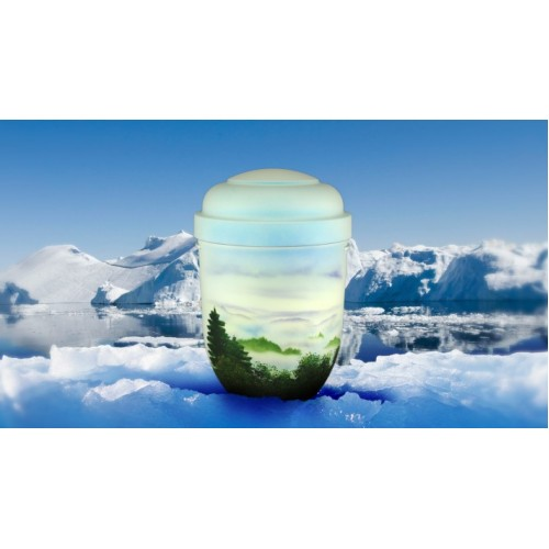 Biodegradable Cremation Ashes Funeral Urn / Casket - MISTY VALLEY