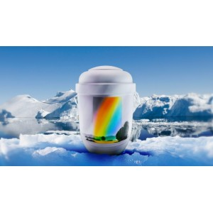 Biodegradable Cremation Ashes Funeral Urn / Casket - OVER THE RAINBOW