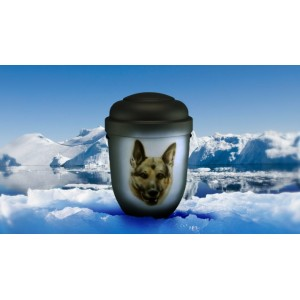 Biodegradable Cremation Ashes Funeral Urn / Casket - GERMAN SHEPHERD / ALSATIAN DOG