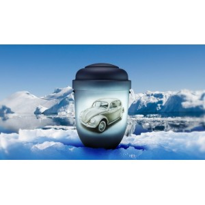 Biodegradable Cremation Ashes Funeral Urn / Casket - VINTAGE VW BEETLE