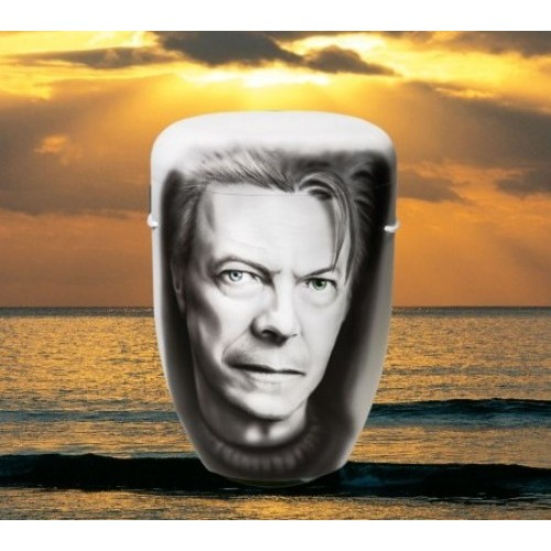 Biodegradable Cremation Ashes Funeral Urn / Casket - DAVID BOWIE