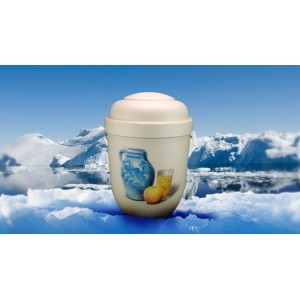Biodegradable Cremation Ashes Funeral Urn / Casket - APPLE CIDER