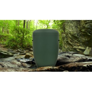 Biodegradable Cremation Ashes Funeral Urn / Casket - AUTUMN GREEN