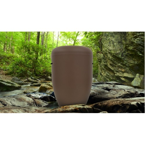 Biodegradable Cremation Ashes Funeral Urn / Casket - TAWNY BROWN