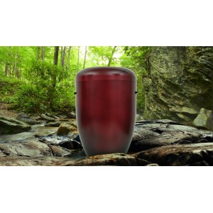 Biodegradable Cremation Ashes Funeral Urn / Casket - CHERRY RED