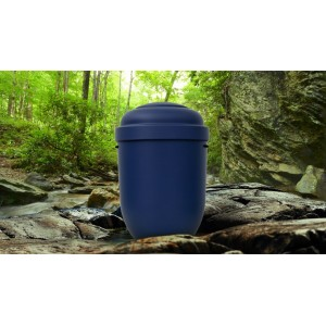 Biodegradable Cremation Ashes Funeral Urn / Casket - INDIGO BLUE