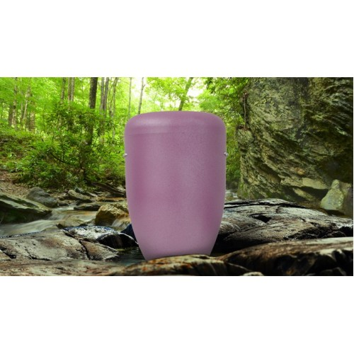 PERSONALISED Biodegradable Cremation Ashes Urn - LILAC PETAL