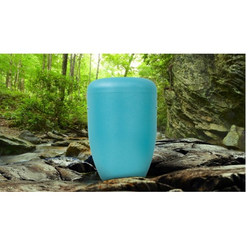Biodegradable Cremation Ashes Funeral Urn / Casket - SCOTTISH LIGHT BLUE