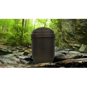 PERSONALISED Biodegradable Cremation Ashes Urn. - EBONY w/ SPECKLED COPPER