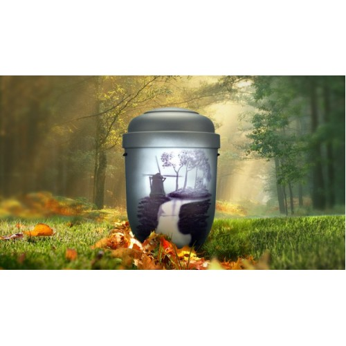 Biodegradable Cremation Ashes Funeral Urn / Casket - WINDMILL