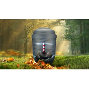 Biodegradable Cremation Ashes Funeral Urn / Casket - LIGHTHOUSE