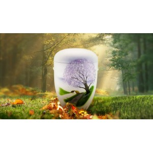 Biodegradable Cremation Ashes Funeral Urn / Casket - MEADOW STREAM (B)