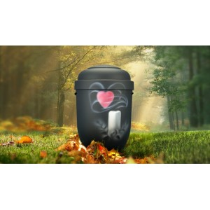 Biodegradable Cremation Ashes Funeral Urn / Casket - CANDLE & HEART