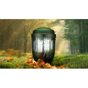 Biodegradable Cremation Ashes Funeral Urn / Casket - FOREST TRAILS