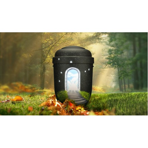 Biodegradable Cremation Ashes Funeral Urn / Casket - STAIRWAY TO HEAVEN