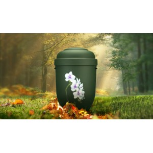 Biodegradable Cremation Ashes Funeral Urn / Casket - ORCHIDS IN BLOOM