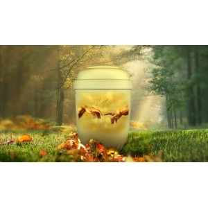 Biodegradable Cremation Ashes Funeral Urn / Casket - CREATION OF ADAM