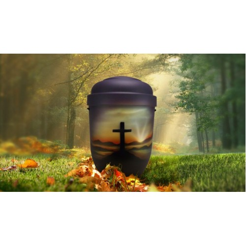 Biodegradable Cremation Ashes Funeral Urn / Casket - SUMMIT CROSS
