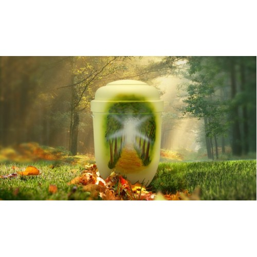 Biodegradable Cremation Ashes Funeral Urn / Casket - AWAY TO THE LIGHT