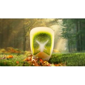 Biodegradable Cremation Ashes Funeral Urn / Casket - AWAY TO THE LIGHT (B)