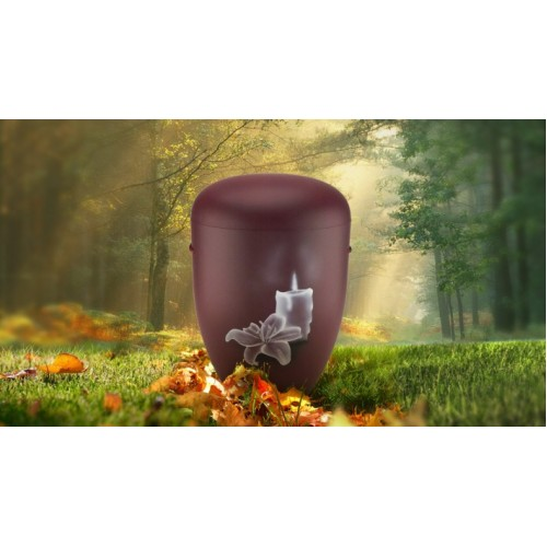 Biodegradable Cremation Ashes Funeral Urn / Casket - CANDLE & ORCHID