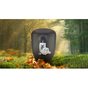 Biodegradable Cremation Ashes Funeral Urn / Casket - CANDLE ROSE (B)
