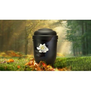 Biodegradable Cremation Ashes Funeral Urn / Casket - WATER LILY