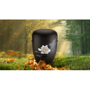 Biodegradable Cremation Ashes Funeral Urn / Casket - WATER LILY (B)