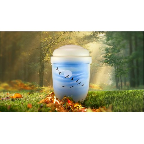 Biodegradable Cremation Ashes Funeral Urn / Casket - WILD GEESE