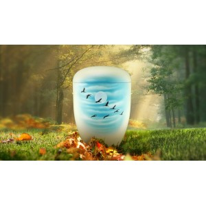 Biodegradable Cremation Ashes Funeral Urn / Casket - GEESE IN FLIGHT