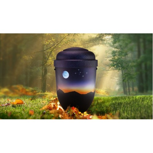 Biodegradable Cremation Ashes Funeral Urn / Casket - MOUNTAIN SUNSET