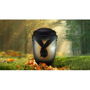 Biodegradable Cremation Ashes Funeral Urn / Casket - HOLDING HANDS