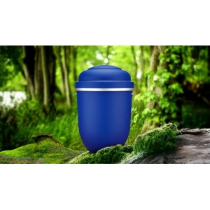 Biodegradable Cremation Ashes Funeral Urn / Casket - CELESTIAL BLUE
