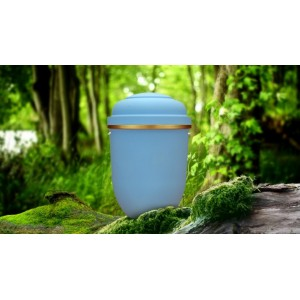 Biodegradable Cremation Ashes Funeral Urn / Casket - LIBERTY BLUE
