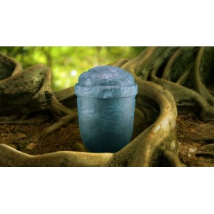 Biodegradable Cremation Ashes Funeral Urn / Casket - SLATE BLUE