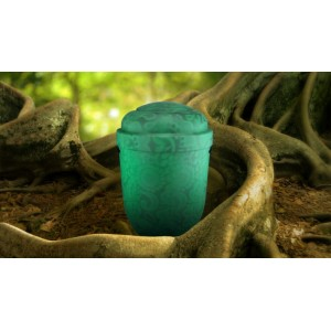 Biodegradable Cremation Ashes Funeral Urn / Casket - FERN GREEN