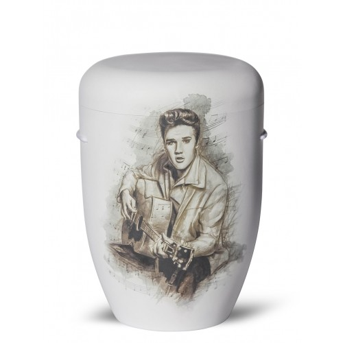 Biodegradable Cremation Ashes Funeral Urn / Casket – ELVIS (Always On My Mind)