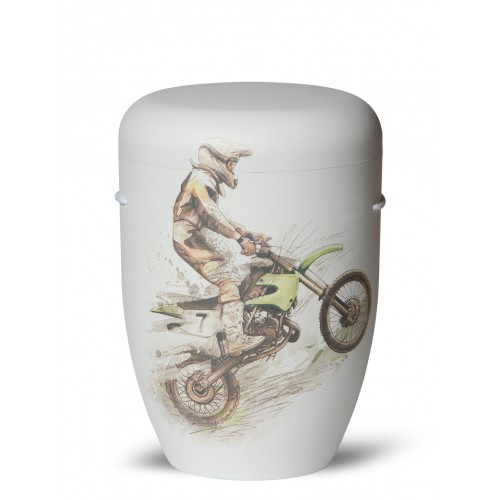Biodegradable Cremation Ashes Funeral Urn / Casket – MOTOCROSS (Dirt Bikes)