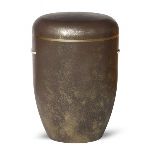 Biodegradable Cremation Ashes Funeral Urn / Casket – BAROQUE BROWN & GOLD