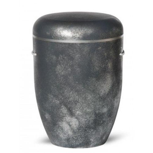 Biodegradable Cremation Ashes Funeral Urn / Casket – BAROQUE ANTHRACITE & SILVER