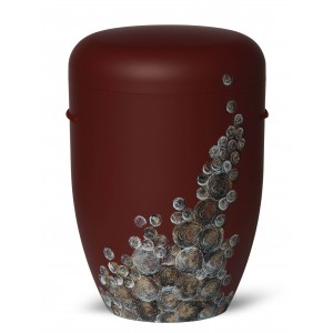 Biodegradable Cremation Ashes Funeral Urn / Casket – Curly Bubble Design – BORDEAUX