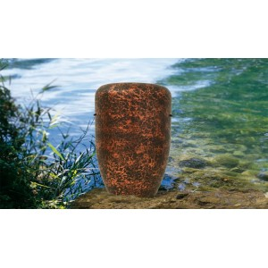 Biodegradable Cremation Ashes Funeral Urn / Casket - HAND BEATEN COPPER EFFECT