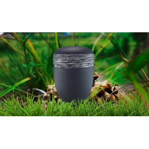 Biodegradable Cremation Ashes Funeral Urn / Casket - ANTHRACITE CLOAK